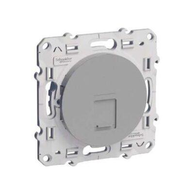 Schneider Odace prise multimédia RJ45 grade 1 - aluminium - S530475