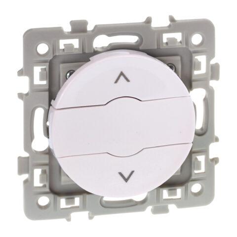 Interrupteur volets roulants 3 positions Square 1 poste - 6AX - 250V - Blanc - 60223