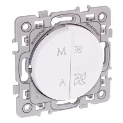 Interrupteur VMC 2 positions Square 1 poste - Blanc - 60225