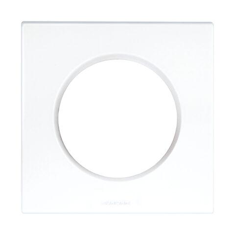 Plaque carrée monobloc Square Eur'Ohm - 1 poste - Blanc - 60295