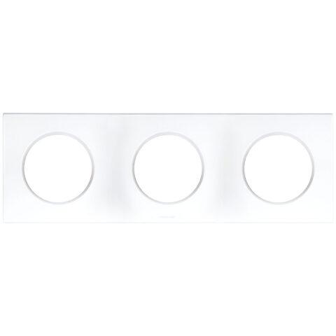 Plaque triple blanc - 3 postes - Entraxe 71mm - Blanc - 60298