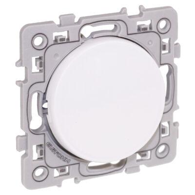 EUROHM Bouton poussoir Square 1 poste - 10AX - 250V - Blanc - 60202