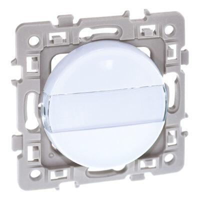 Bouton poussoir porte-étiquette 1 poste Square - 10AX - 250V - Blanc - 60206