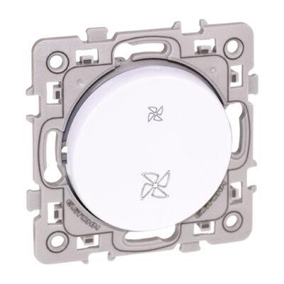 Interrupteur VMC 2 positions Square 1 poste - Blanc - 60218