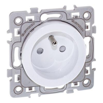 Prise de courant 2P+T Square 1 poste - 16A - 250V - Blanc - 60260
