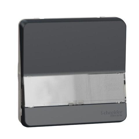 Bouton-poussoir porte-etiquette IP55 IK08 - Gris - Mureva - MUR34029