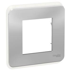 Schneider plaque de finition Aluminium -1 poste