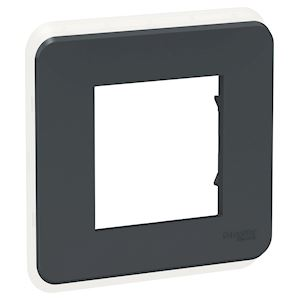 Schneider plaque de finition Anthracite - 1 poste - NU400254