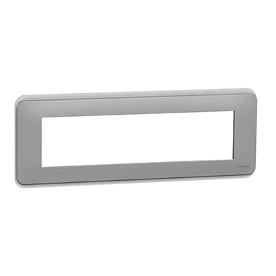 Schneider Plaque Aluminium 8 modules - NU411830