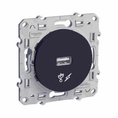 Prise alimentation USB 5V Anthracite - Odace - S540408
