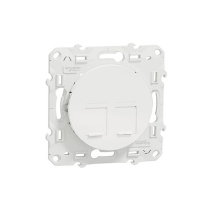 Odace prise multimédia double RJ45 grade 1 - blanc -S520486