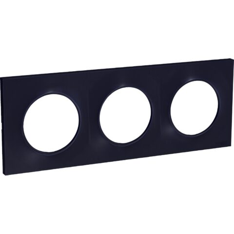 Plaque Anthracite 3 Postes Odace Styl - S540706