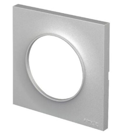 Plaque 1 poste - Aluminium - Odace Styl - S520702E