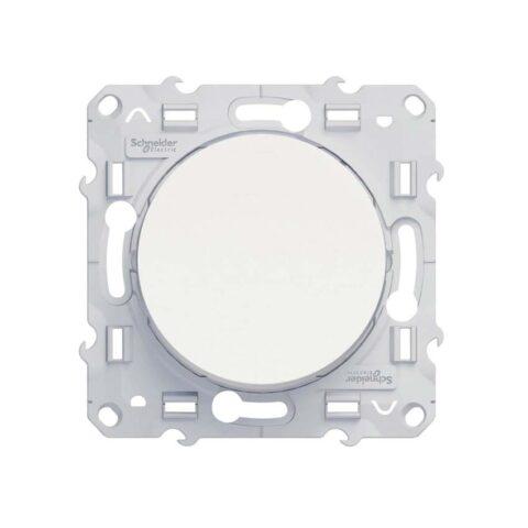 SCHNEIDER Odace Bouton poussoir blanc - S520206