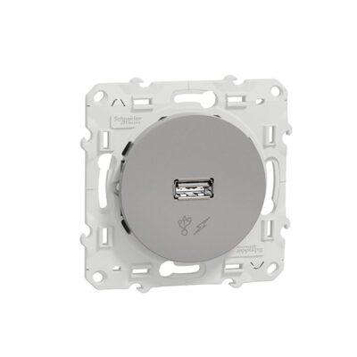SCHNEIDER Odace Chargeur USB Alu sortie 5V, 1A - S530408
