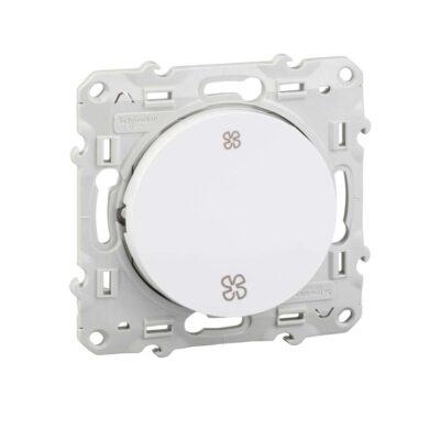 SCHNEIDER Odace Interrupteur VMC blanc-Sans position arrêt, à vis – S520233-min