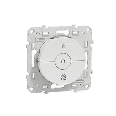 SCHNEIDER Odace Interrupteur VMC blanc à vis - S520243