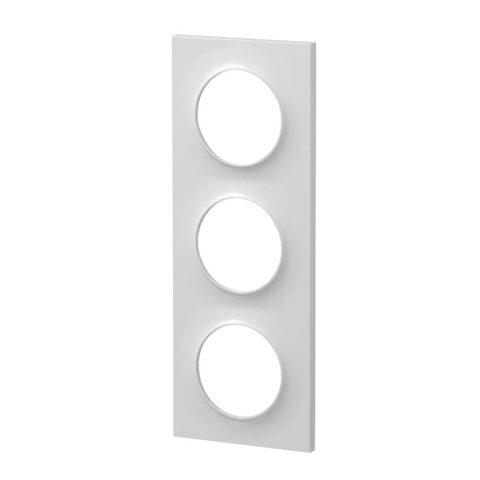 SCHNEIDER Plaque 3 postes -Odace Styl blanc- S520706