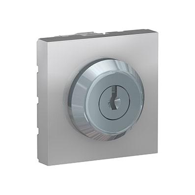 Schneider Interrupteur à clé Aluminium Unica - Poussoir - 10A -NU373130-min
