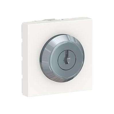 Schneider Interrupteur à clé Unica - Poussoir - 10A - Blanc -NU373118