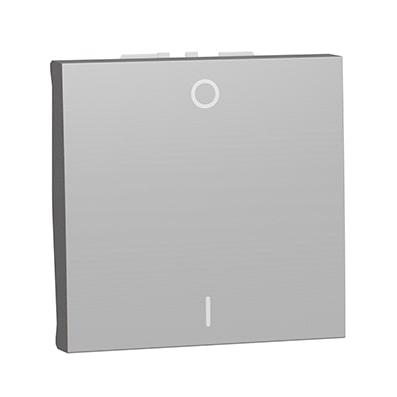 Schneider Interrupteur bipolaire Aluminium 2 modules - 16A -NU326230