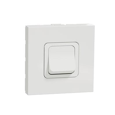Schneider Interrupteur bipolaire Blanc -2 modules - 20A- NU322518