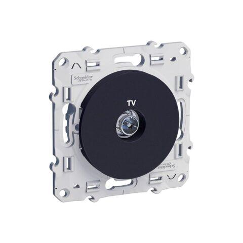 Prise TV simple anthracite - Schneider Odace - S540445