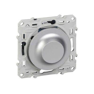 SCHNEIDER Odace Interrupteur variateur LED alu - S530512