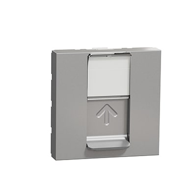 Schneider Prise RJ45 Aluminium - Cat.6 STP - 2 modules -NU341930