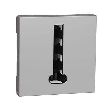 Schneider Prise téléphonique Unica - 2 modules - Alu -NU349630