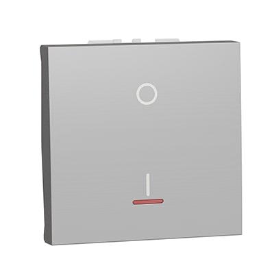 Schneider interrupteur bipolaire Aluminium lumineux -NU326254S