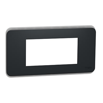 Schneider plaque de finition Anthracite 4 modules-min