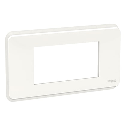 Schneider plaque de finition Blanc antimicrobien - 4 modules -NU411420