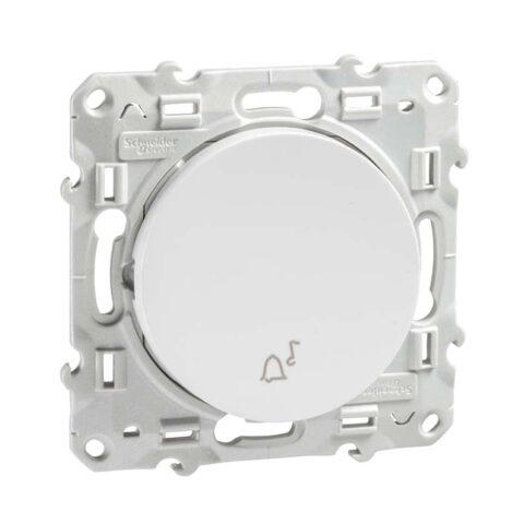 Schneider poussoir pour carillon 10A - Odace - blanc - S520246-min