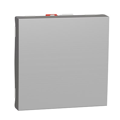 Schneider va-et-vient Aluminium 10A - 2 mod - NU320330