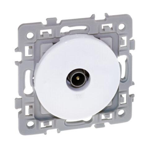 Prise TV simple 1 poste Square - 250V - Blanc - 60264