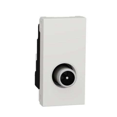 Schneider Prise télévision Unica - Mâle - 1 module - Blanc - NU346118