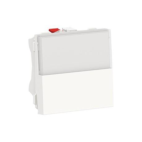 schneider poussoir NO/NF porte-étiquette blanc-antimicrobien