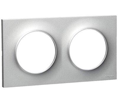 Plaque Double horizontale / verticale 71mm - Aluminium - S520704E