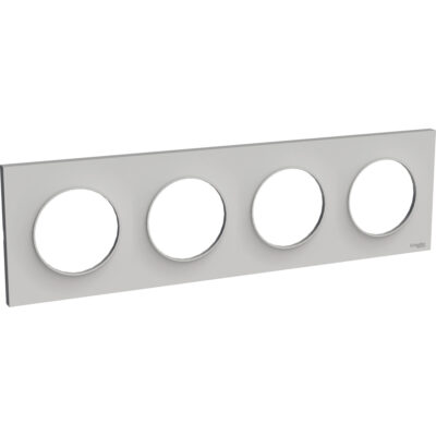 Plaque Quadruple horizontale / verticale 71mm - Aluminium - Odace Styl - S520708E