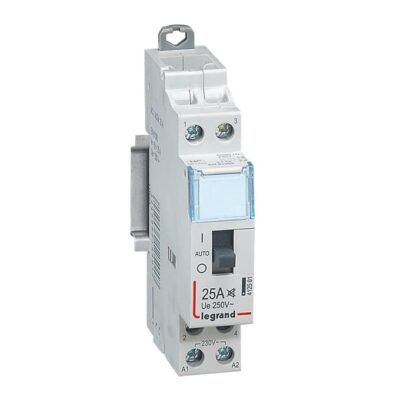 Contacteur domestique CX³ silencieux bobine 230V~ - 2P 250V~ - 25A - contact 2F - 1 module