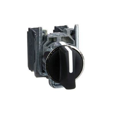 Harmony XB4 - bouton tournant à manette - Ø22 - 3 pos rap C - noir - 2F - vis