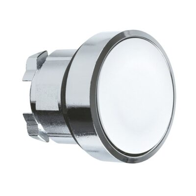 Harmony XB4 - tête bouton poussoir - affleurant - Ø22 - blanc-min (1)