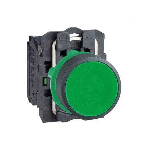 Harmony XB5 - bouton poussoir à impulsion - Ø22 - vert - 1F - vis étrier-min
