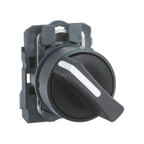 Harmony XB5 - bouton tournant manette - Ø22 - 2 pos fix - noir - 1F - vis étrier-min