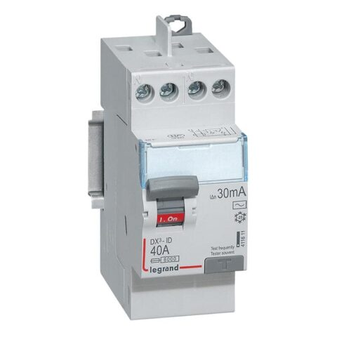 Interrupteur différentiel DX³-ID arrivée haute et départ haut à vis - 2P 230V_ 40A typeAC 30mA - 2 modules-min