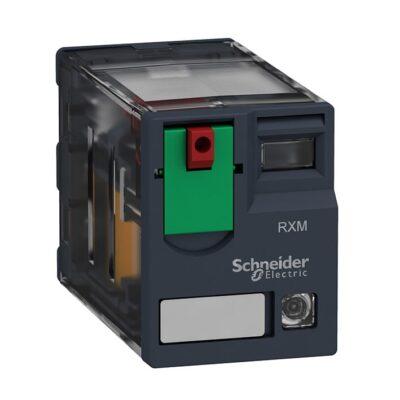 Schneider Relais miniature -test+DEL -4OF -12A -230VAC -RXM4AB2P7