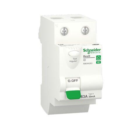 Resi9 XE - interrupteur différentiel - 2P - 63A - 30mA - Type A - embrochable-min