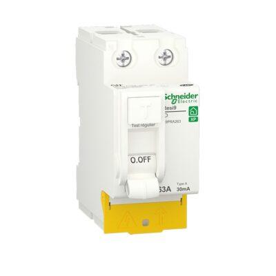 SCHNEIDER Resi9 XP Interrupteur différentiel 63A 30mA type A 230V - R9PRA263-min