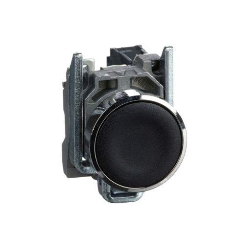Schneider XB4BA21-bouton poussoir à impulsion – Ø22 – noir – 1F – vis étrier-min